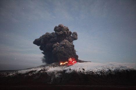 Пробуждение вулкана Эйяфьятлайокудль