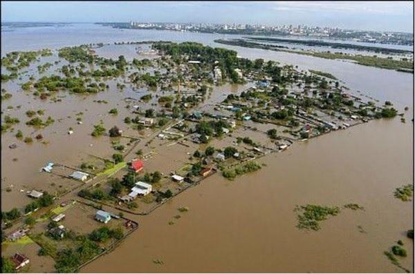Наводнение превратило Хабаровск в остров