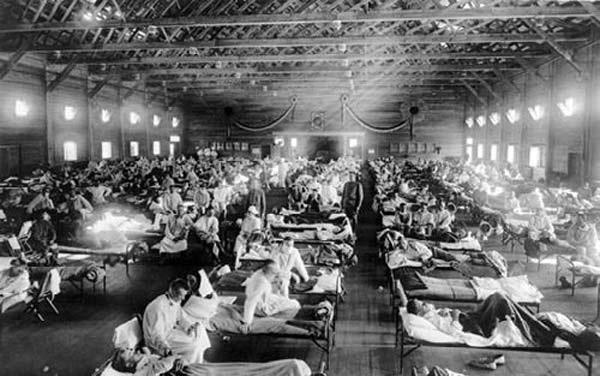 Эпидемия «испанки», которая унесла от 2,5 до 5% населения планеты