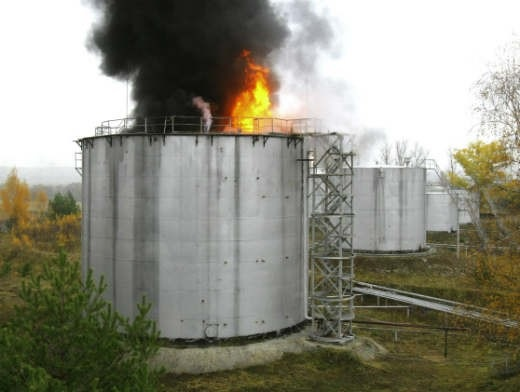 Пожар на НПЗ «Крекинг» в Саратове