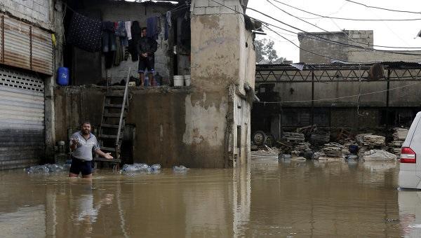 Ливни и наводнения в Ливане
