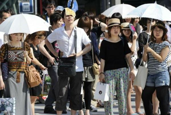 Жара в Японии страшнее радиации