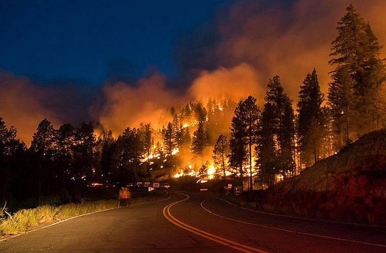 пожар в Калифорнии 2015