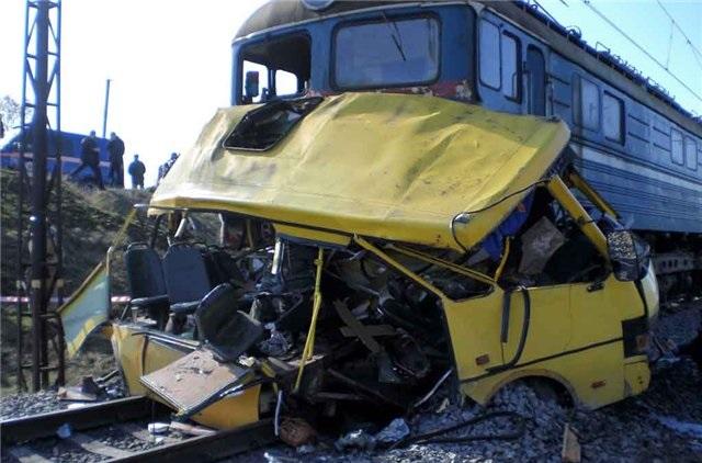 Авария на переезде в Марганце 2010