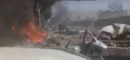 Взрыв у посольства в Кабуле (Афганистан)