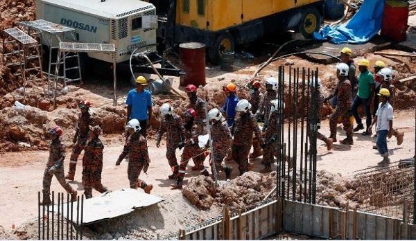 Оползень на строй площадке в Малайзии