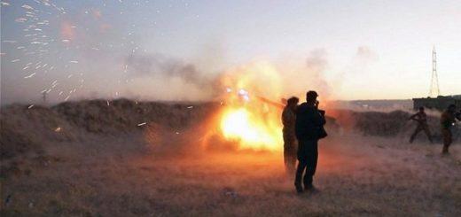 Иракские военные сражаются с курдами на турецкой границе