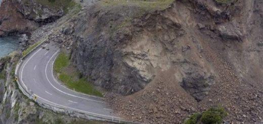 Результат оползней после землетрясения в Новой Зеландии