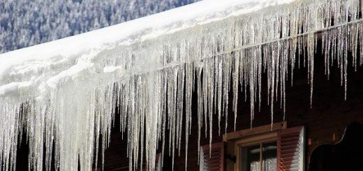 падение снега и сосулек с крыш