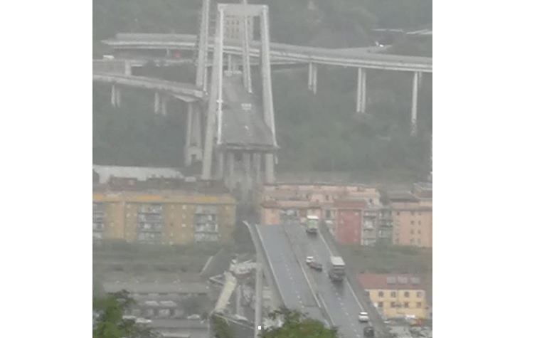 разрушенный мост в Генуе