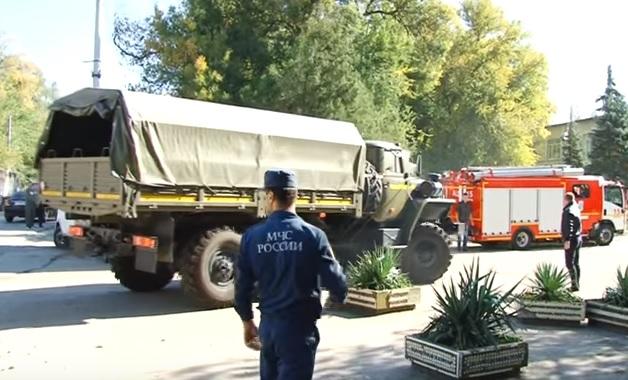 Взрыв в колледже в Керчи. Видео очевидцев