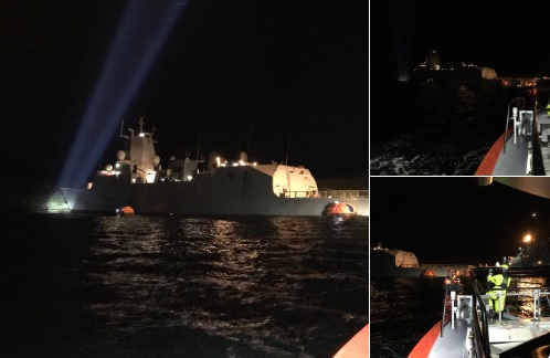 авария фрегата с танкером
