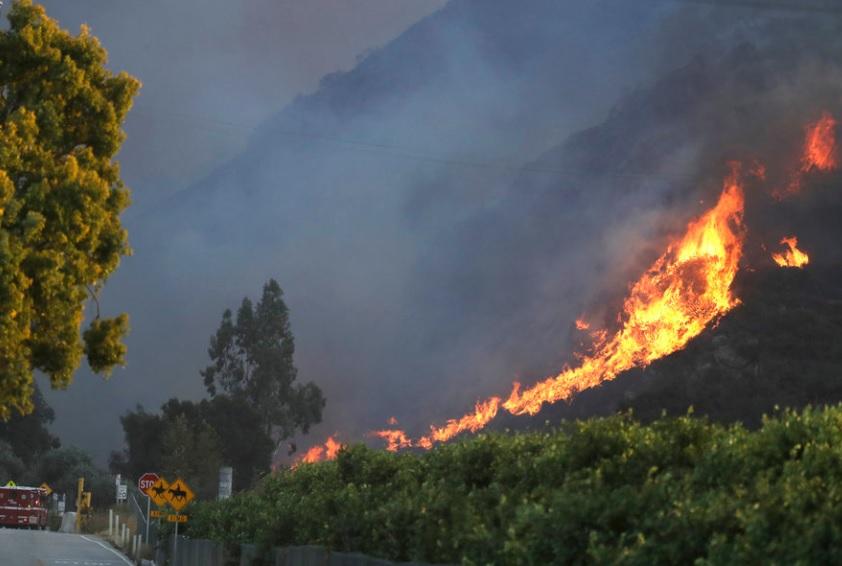 Лесной пожар в Калифорнии. Видео пожара ноябрь 2018