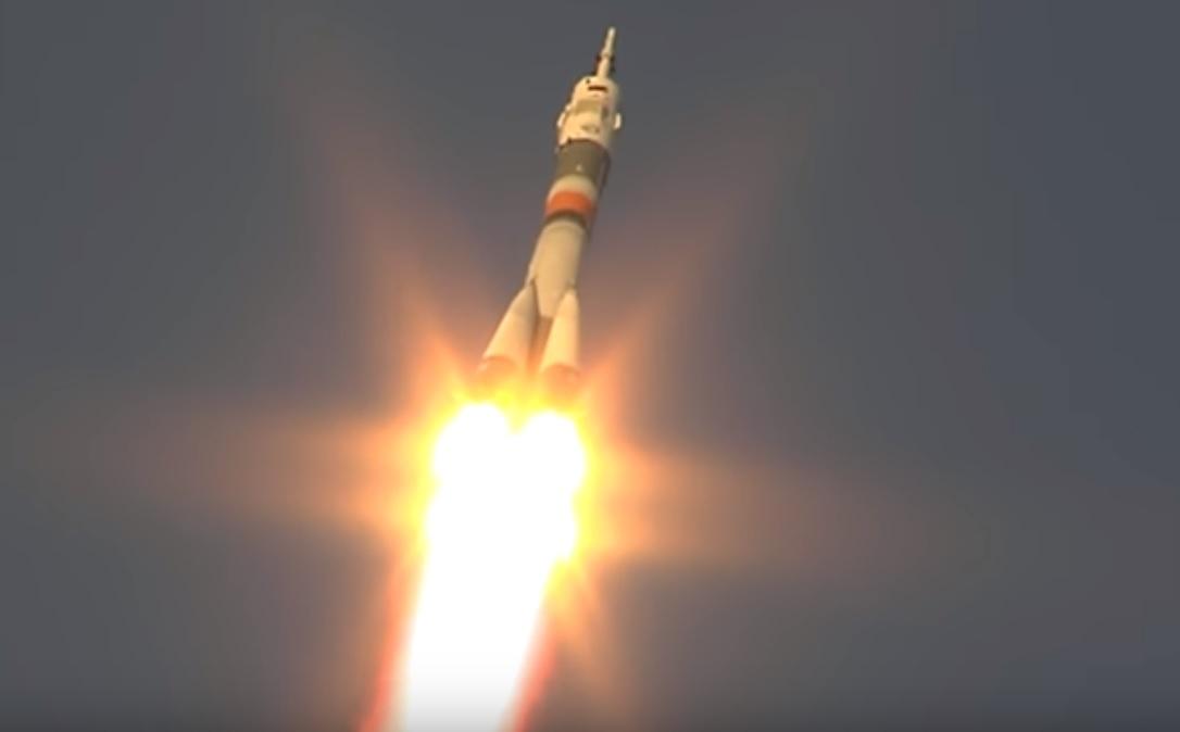 Сегодня произошел запуск ракеты Союз МС-11 из Байконура. Видео запуска