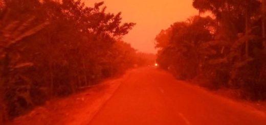 кровавое небо Индонезия