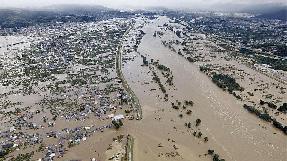 Тайфун Хагибис (Typhoon Hagibis) увеличиваются потери