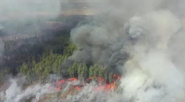 Пожары возле Чернобыля. Украина