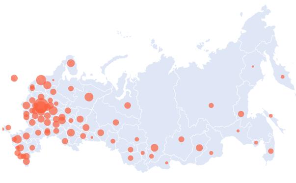 Карта заражения Российской Федерации