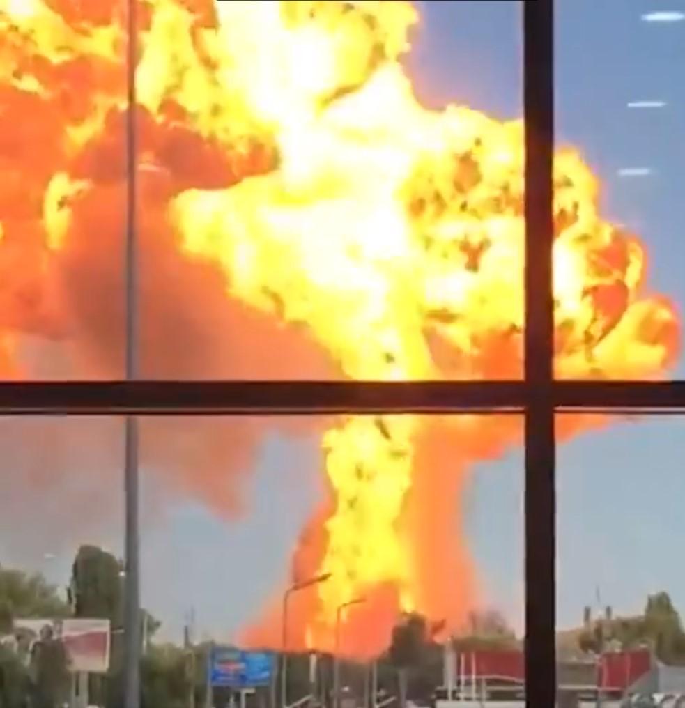 Взрыв в Волгограде на заправке