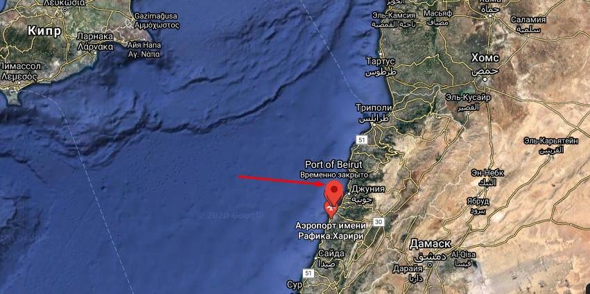 Взрыв в Бейруте. Ливан порт