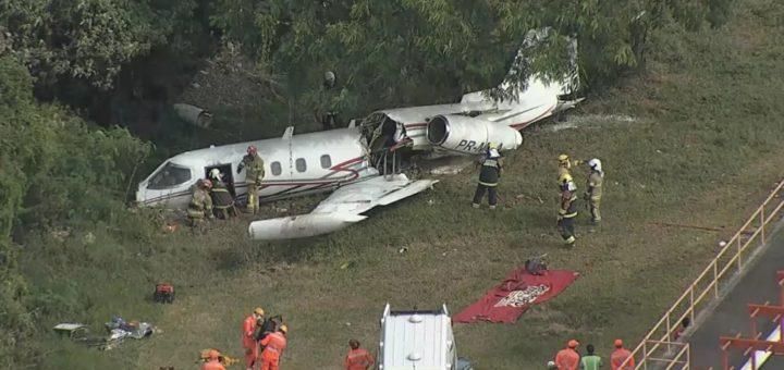 Самолет Learjet 35 разбился при посадке в Бразилии