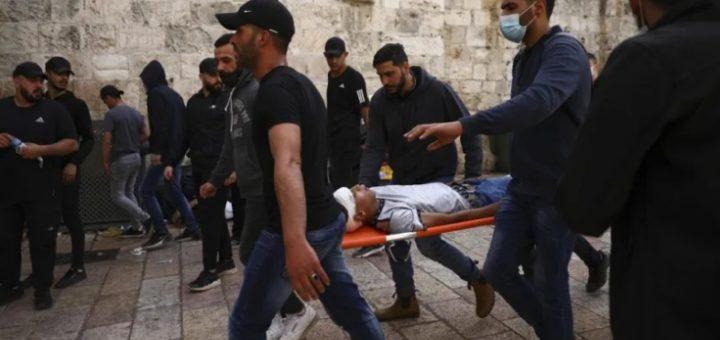Аль-Акса обстрел и пожар в Иерусалиме